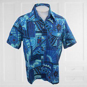 PalmTree of Branford Men Hawaiian shirt XL 1970s